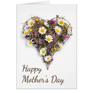 Corazón floral tarjeta de felicitación