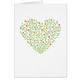 Corazón florido tarjeta de felicitación