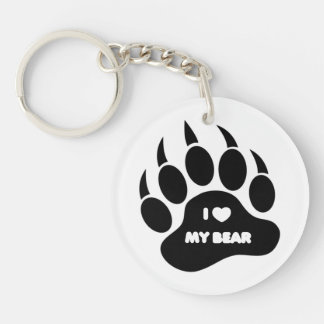 Corazón gay de la pata de oso del orgullo del oso  llaveros