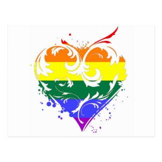 corazón gay postal