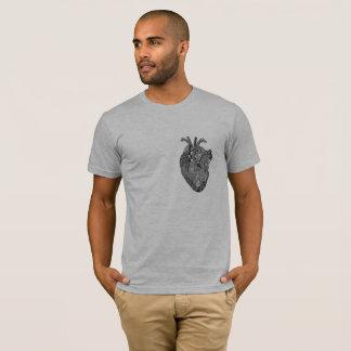 Corazón geométrico camiseta