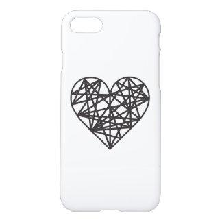 Corazón geométrico funda para iPhone 7
