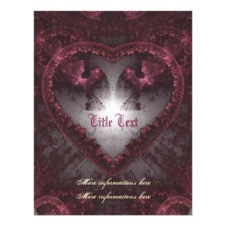 Corazón gótico púrpura 001 flyer personalizado