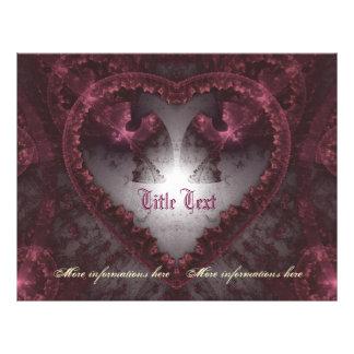 Corazón gótico púrpura 001 folleto 21,6 x 28 cm