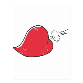 Corazón grosero postal