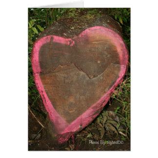 Corazón hawaiano tarjeta de felicitación