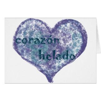 Corazon Helado Tarjeta De Felicitación