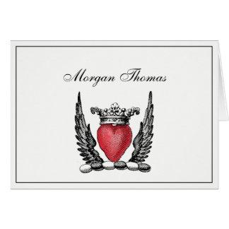 Corazón heráldico con el escudo del escudo de tarjeta pequeña