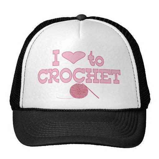 Corazón I a crochet Gorro