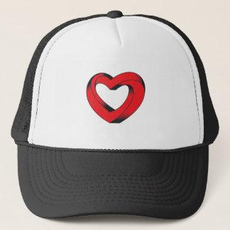 corazón imposible torcido gorra de camionero