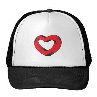corazón imposible torcido gorras de camionero