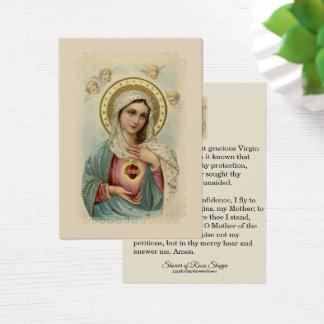 Corazón inmaculado de la tarjeta santa triste de