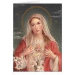 Corazón inmaculado de Maria Felicitación