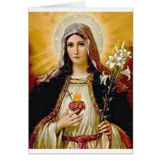 Corazón inmaculado del Virgen María santo, madre Tarjeta De Felicitación