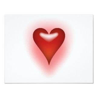Corazón Invitación 10,8 X 13,9 Cm