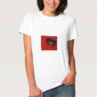 Corazón jamaicano T--camisa Camisetas