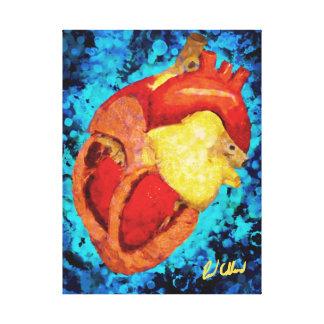 Corazón Lona Estirada Galerias