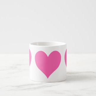 Corazón lindo de las rosas fuertes taza de espresso