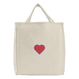Corazón llenado bolsa