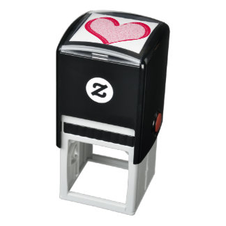 Corazón manchado rojo del el día de San Valentín Sello Automático