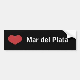 Corazón Mar del Plata Pegatina De Parachoque