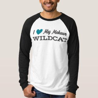 Corazón mi gato montés del Mohave: Camiseta adulta