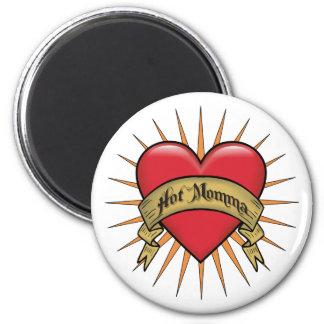 Corazón Momma caliente del tatuaje Imanes De Nevera