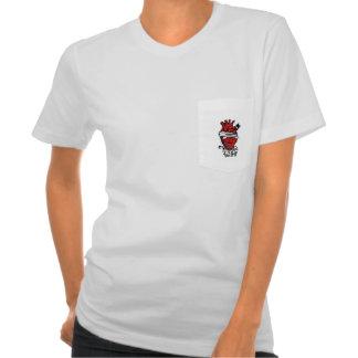 corazon mujer camiseta