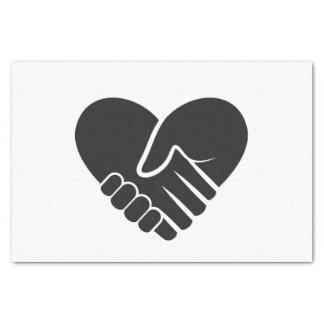 Corazón negro conectado amor papel de seda