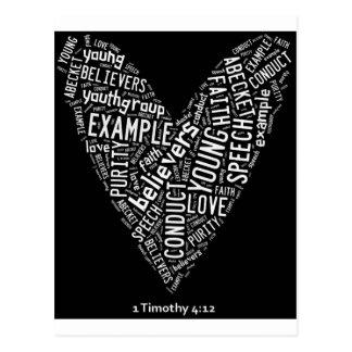 Corazón negro del desgaste del Espíritu Santo (Gp Postal