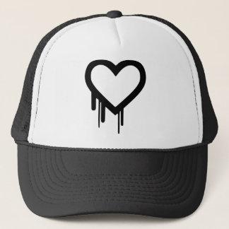 Corazón negro del goteo de Heartbleed Gorra De Camionero
