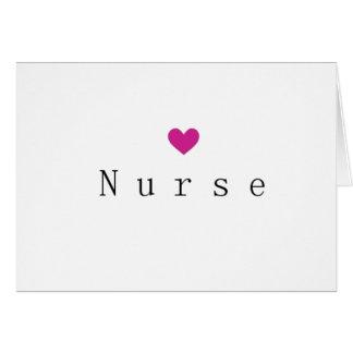 Corazón Notecard de la enfermera Tarjeta Pequeña