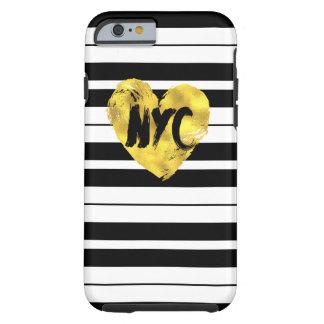 Corazón Nueva York, rayada Funda Resistente iPhone 6