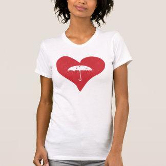 Corazón nupcial de la ducha camiseta
