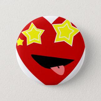 Corazón observado protagonizado chapa redonda de 5 cm