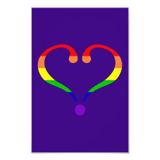 Corazón Orgullo día de San Valentín y arco iris Impresiones Fotográficas