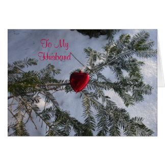 Corazón para el saludo de la tarjeta del día de