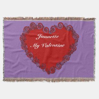 Corazón personalizado de la tarjeta del día de San Manta