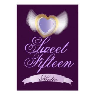 Corazón-Personalizar con alas del dulce quince