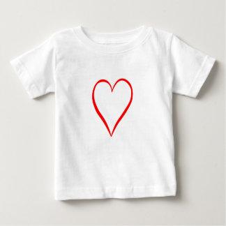 Corazón pintado en fondo blanco camiseta de bebé