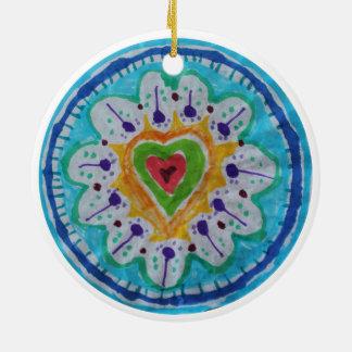 Corazón precioso del hippie del teñido anudado ornamentos de reyes magos