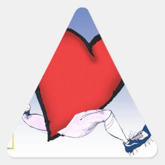 corazón principal de Carolina del Norte, fernandes Pegatina Triangular