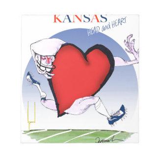 corazón principal de Kansas, fernandes tony Bloc De Notas