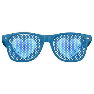 Corazón profundo del agua azul - amor en sombras gafas de fiesta retro