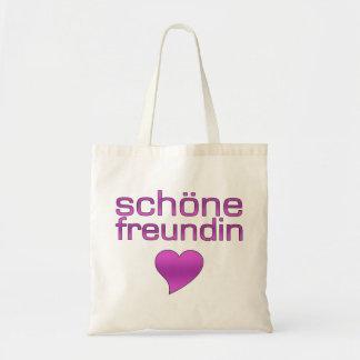 Corazón púrpura del amor de Schöne Freundin Bolsas