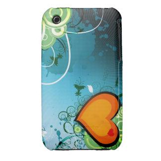 Corazón retro iPhone 3 protectores