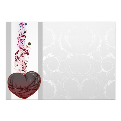 Corazón rojizo lindo del amor comunicados