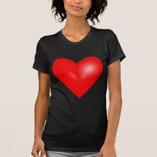Corazón rojo 3D Camisetas