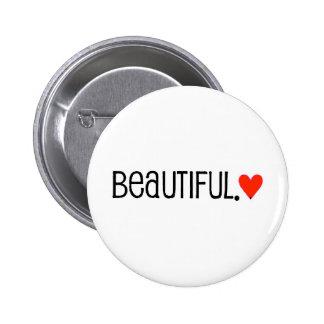 corazón rojo brillante hermoso 35e2b24 chapa redonda de 5 cm
