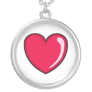 Corazón rojo pendiente